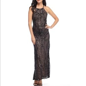 🌸🎀 Nightway dress 🎀🌸 size 10 Black/Nude